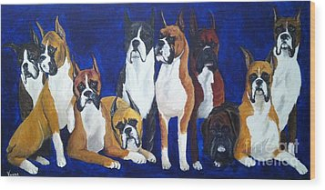 Wood Print featuring the painting Champions by Vonda Lawson-Rosa