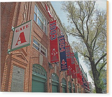 Championship Banners Wood Print by Barbara McDevitt
