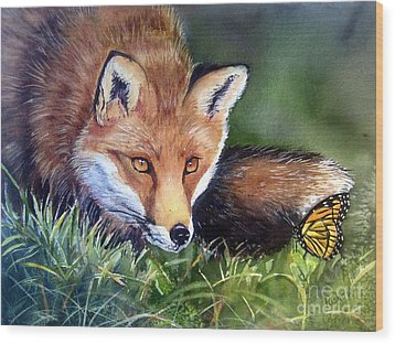 Chance Encounter Wood Print by Patricia Pushaw
