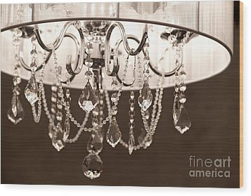 Wood Print featuring the photograph Chandelier by Aiolos Greek Collections
