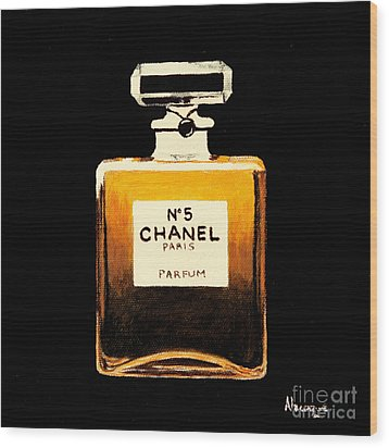 Chanel No. 5 Wood Print by Alacoque Doyle