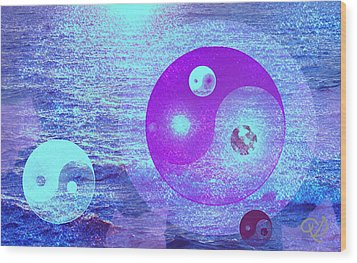 Changing Currents Of Reality Wood Print by Ute Posegga-Rudel