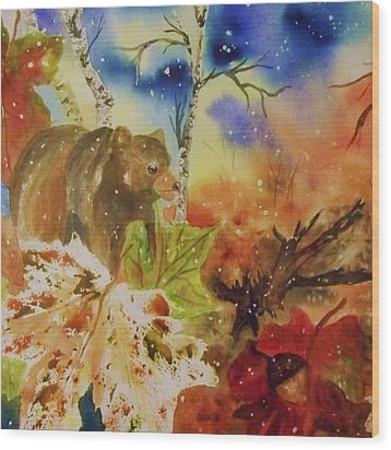 Changing Of The Seasons - Square Format Wood Print by Ellen Levinson