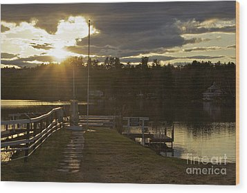 Wood Print featuring the photograph Changing Skies by Alice Mainville