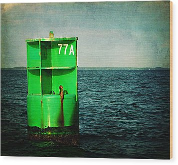 Channel Marker 77a Wood Print