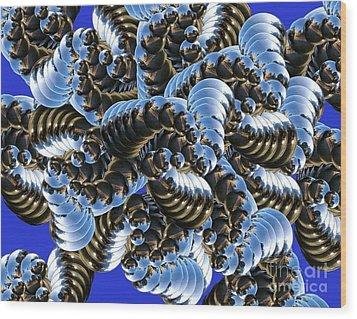 Chaos Wood Print by Soumya Bouchachi