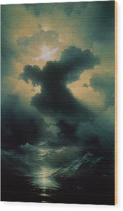 Chaos The Creation Wood Print by Ivan Konstantinovich Aivazovsky