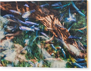 Wood Print featuring the photograph Chaotic Mess by Joshua Minso