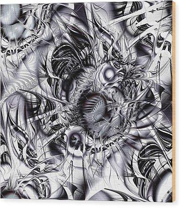 Chaotic Space Wood Print by Anastasiya Malakhova