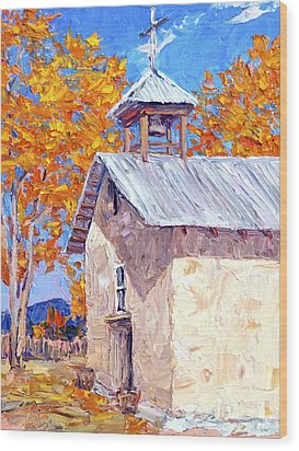 Chapel At Ojo Claiente Wood Print by Steven Boone