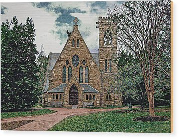 Chapel At University Of Virginia Wood Print by Jerry Gammon