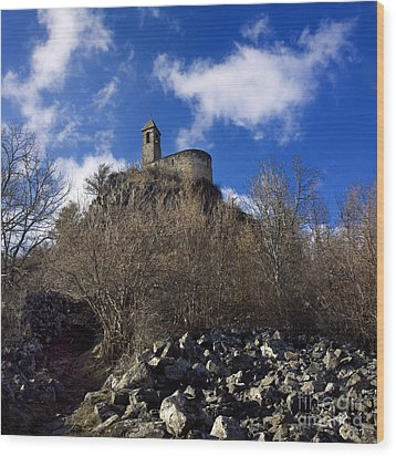 Chapel. Auvergne. France Wood Print by Bernard Jaubert