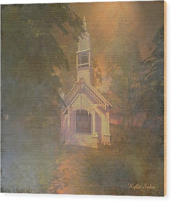 Chapel In The Wood Wood Print