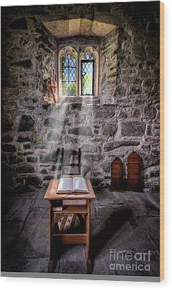 Chapel Light Wood Print by Adrian Evans