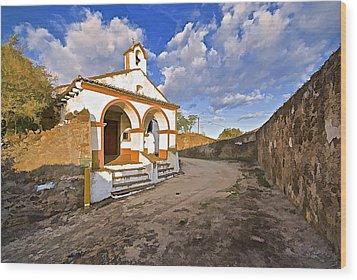 Chapel Of Castelo De Vide Wood Print by David Letts