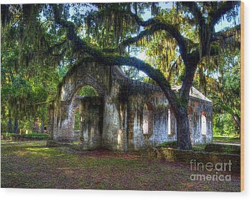 Chapel Of Ease Wood Print by Mel Steinhauer