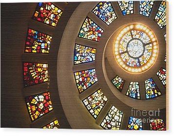 Chapel Of Thanksgiving Dallas Wood Print by Sonja Quintero