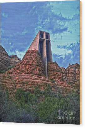 Chapel Of The Holy Cross - Sedona Arizona Wood Print by Gregory Dyer