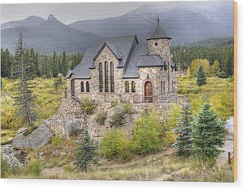 Chapel On The Rock - St Malo Center Wood Print