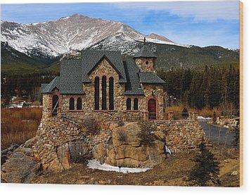 Chapel On The Rocks Wood Print