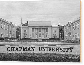 Chapman University Memorial Hall Wood Print by University Icons