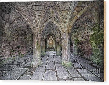 Chapter House Interior Wood Print by Adrian Evans