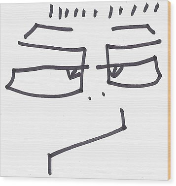 Character Creation - Bgul Wood Print by Brett Smith
