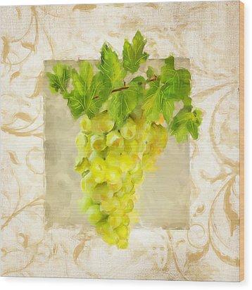 Chardonnay II Wood Print by Lourry Legarde