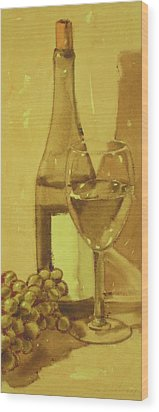 Chardonnay Wood Print