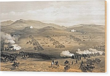 Charge Of The Light Cavalry Brigade Wood Print