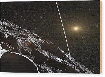 Chariklo Minor Planet And Rings Wood Print