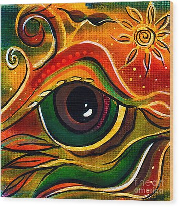 Charismatic Spirit Eye Wood Print