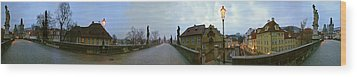 Charles Bridge 360 Wood Print by Gary Lobdell