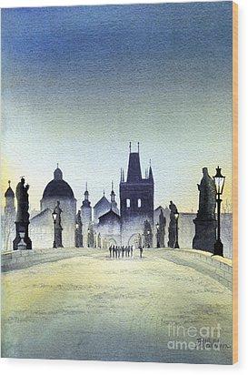 Charles Bridge Wood Print by Bill Holkham
