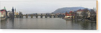 Charles Bridge Wood Print by Gary Lobdell