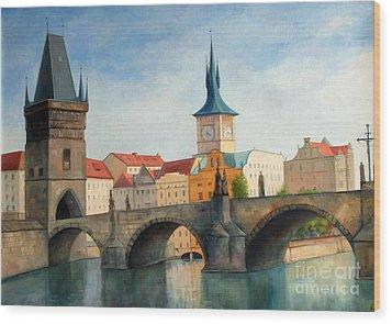 Charles Bridge Wood Print by Igal Kogan