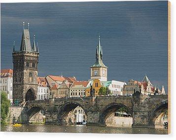 Charles Bridge Prague Wood Print