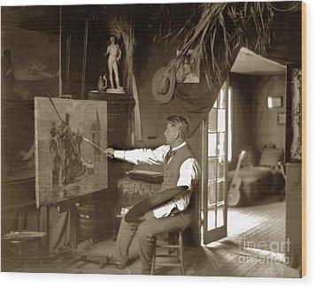 Charles Dickman Artist Monterey California Circa 1907 Wood Print by California Views Mr Pat Hathaway Archives