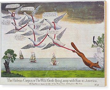 Charles Fox: Cartoon, 1782 Wood Print by Granger