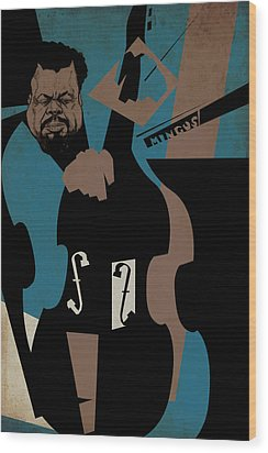 Charles Mingus Wood Print by Thomas Seltzer