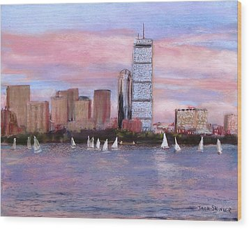 Charles River Boston Wood Print by Jack Skinner