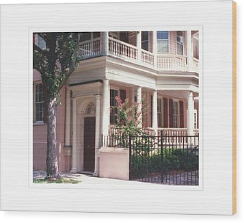 Charleston Architecture 4 Wood Print