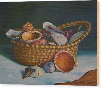 Charleston Basket Wood Print by Dorothy Allston Rogers