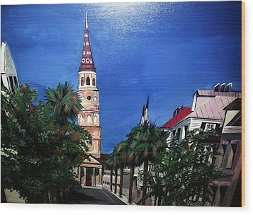 Charleston Church Street  Wood Print