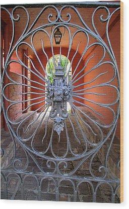Charleston Gate 1 Wood Print