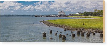 Wood Print featuring the photograph Charleston Harbor by Sennie Pierson