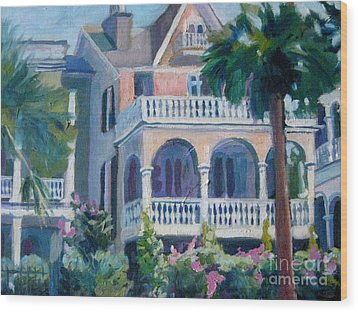 Charleston Historic Homes Wood Print by Gretchen Allen