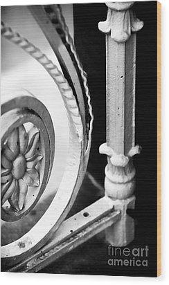 Charleston Iron Works Wood Print by John Rizzuto