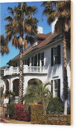Charleston Living Wood Print by John Rizzuto