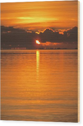 Charleston Morning Sunrise  Wood Print by Joetta Beauford